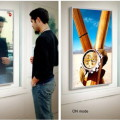 Рекламное зеркало